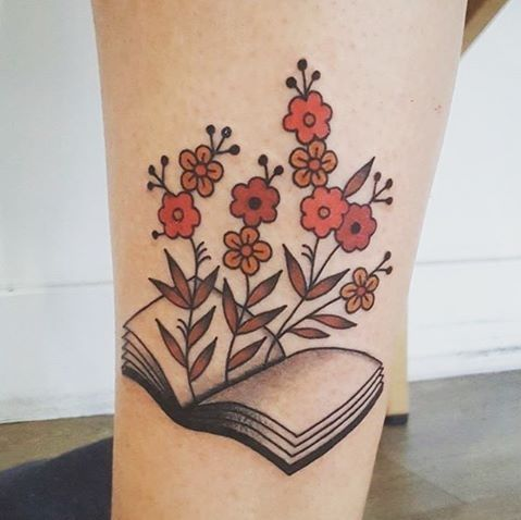 Book With Cherry Blossoms On Sleeve