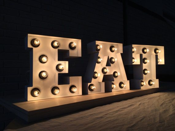 Kitchen decor letter light  Wall decor kitchen by ArtzoneSigns