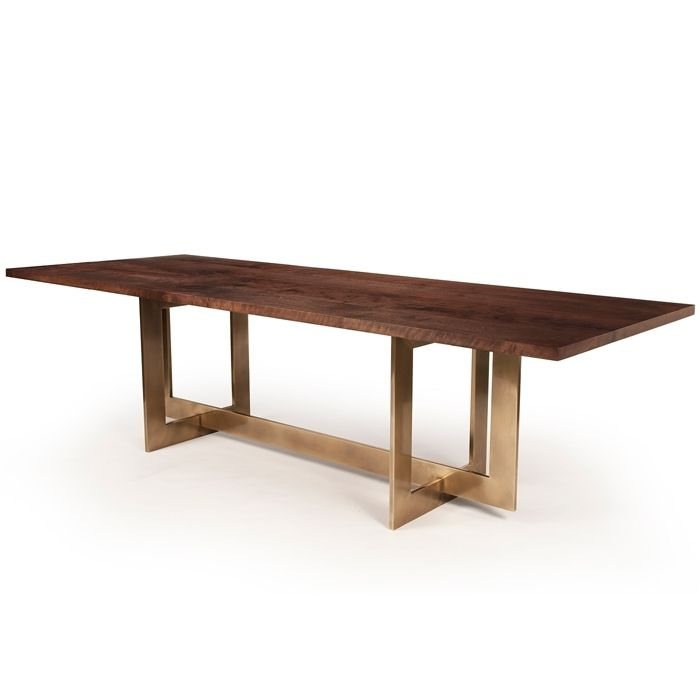 Great Example Of Metal Table Base With A Wood Top Like The Color Bronze Highline By Hudson Furniture Statuary