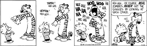 Calvin and Hobbes laugh!