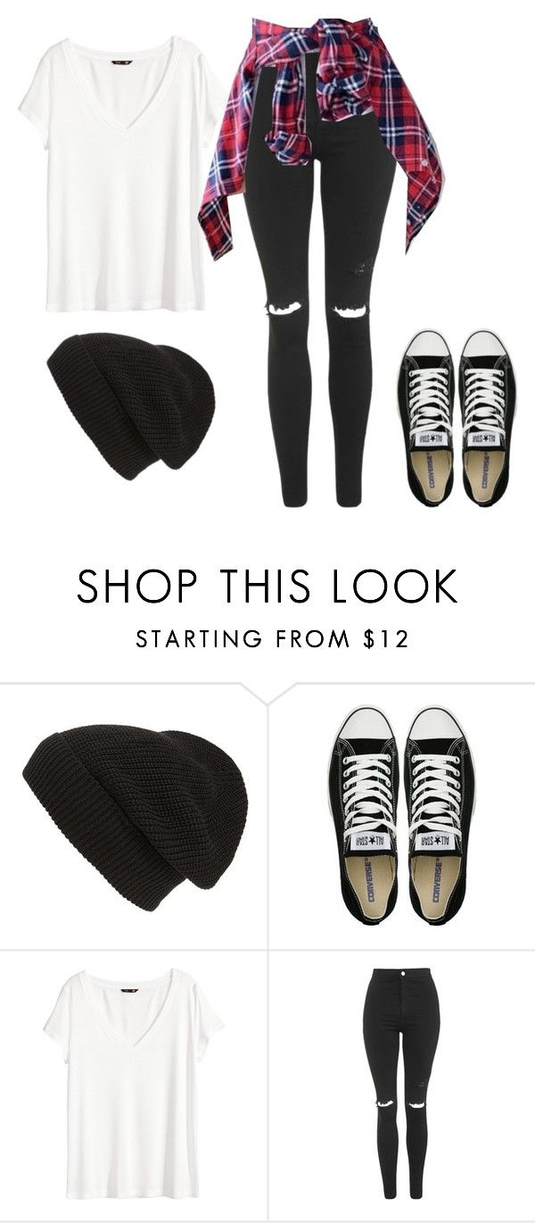 """sk8 or die"" by haileyhoksbergen on Polyvore featuring Phase 3, Converse, H&M, Topshop, women's clothing, women, female, woman, misses and juniors"