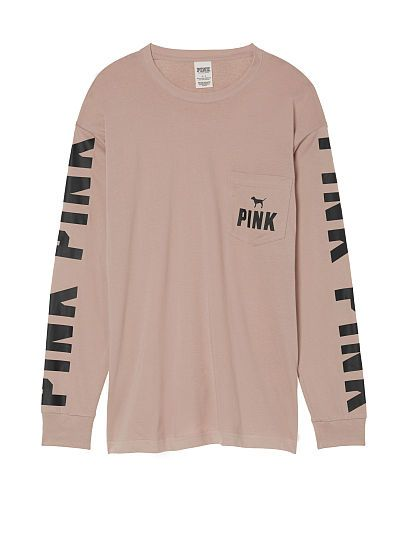 Campus Long Sleeve Tee PINK. Pinterest:@JORDANLANAI