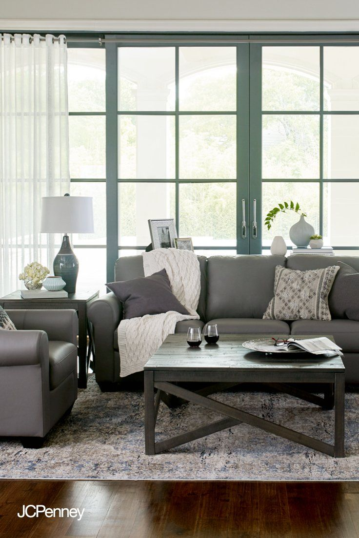 With Jcpenney Home You Can Afford To Transform Your Living Space Into A Soothing Family Retreat Start With A Neutral Sof Furniture Living Room Furniture Home [ 1104 x 736 Pixel ]
