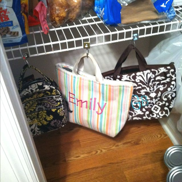 Easy convenient lunch box storage  home  Pantry organization Kitchen organization Pantry