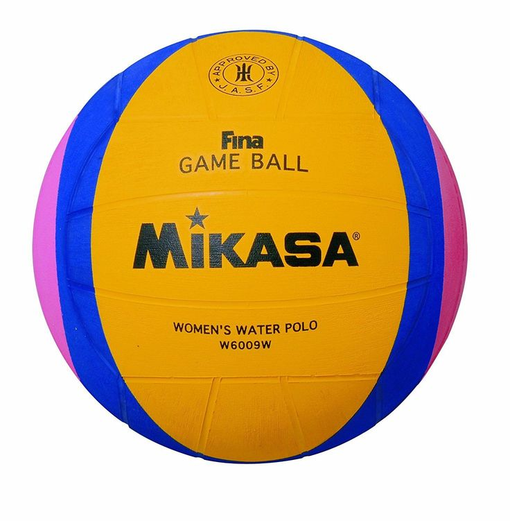Volleyballs 159132: Mikasa London Olympic Water Polo Game Ball Yellow/Blue/Pink, Size 4 BUY IT NOW ONLY: $43.38