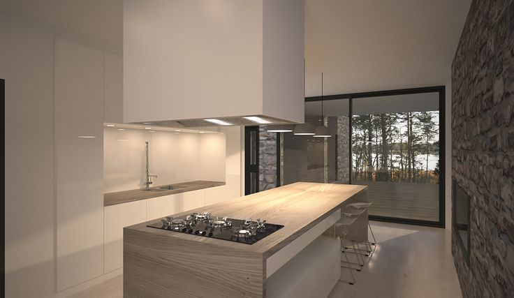 Kitchen. Luxury house in the archipelago.