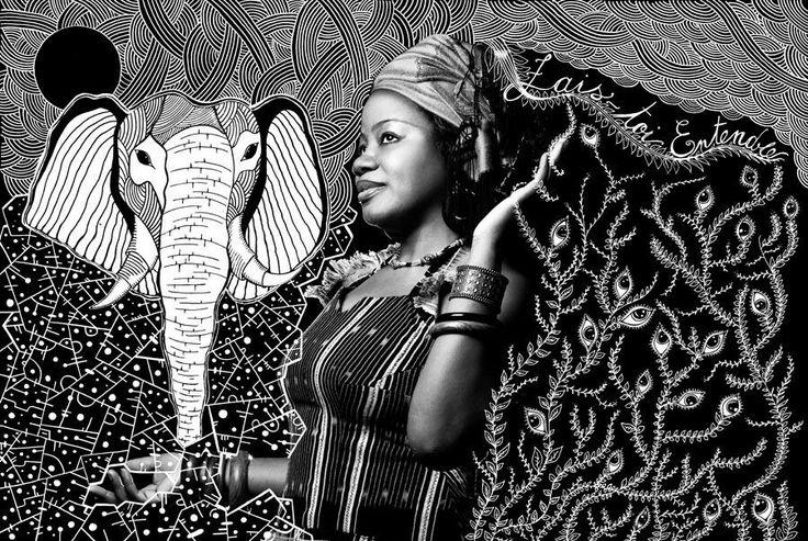 .Fais-toi Entendre.  .Progetto realizzato in onore della Festa della donma Africana. .2014. (China su lucido, portata in negativo su digitale)