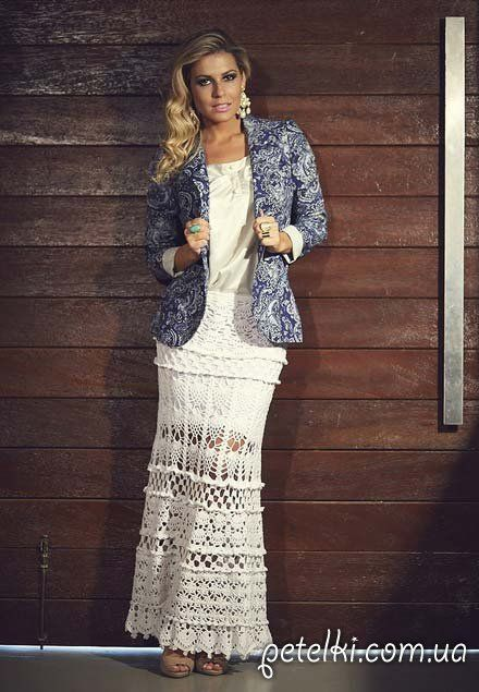Crochet gypsy skirt skirt ♥LCS-MRS♥ with diagrams.