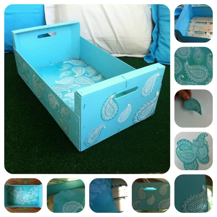 De caja de fruta...a caja decorativa!    Love It!