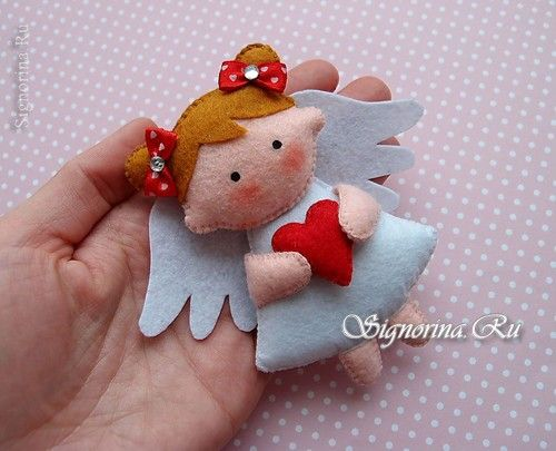 Ангелочек из фетра: фото