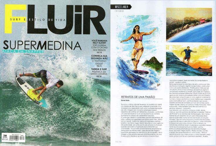 Revista Fluir - Abril 2014 Entrevista sobre SurfArt