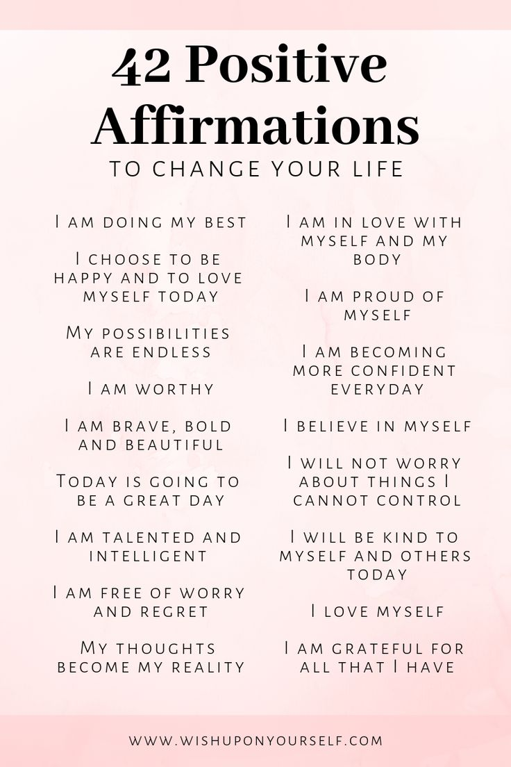42 Positive Affirmations To Change Your Life