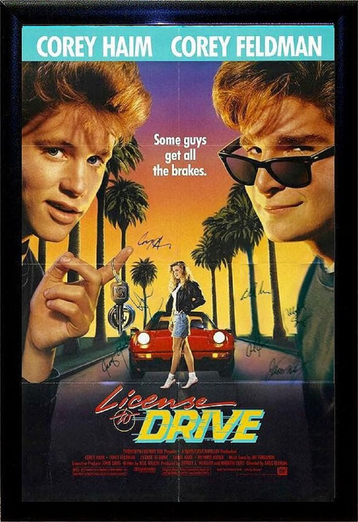 License to drive signed movie poster in wood frame with