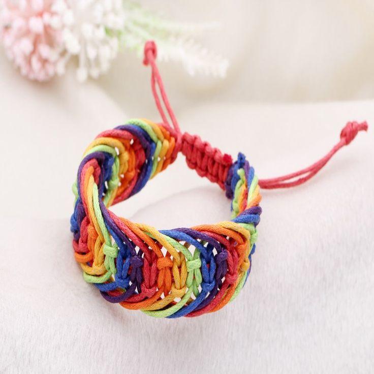 Bracelet Tréssé Multicolore Unisexe en cordon