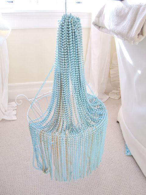 Beautiful DIY bead chandelier