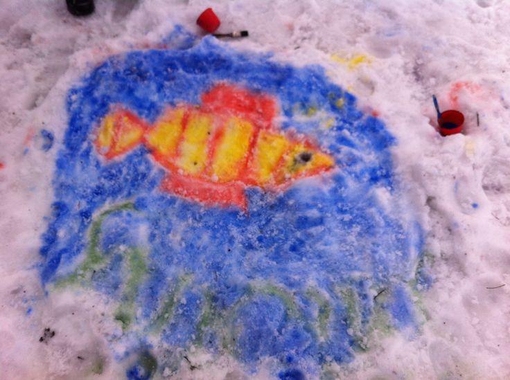 Peitevärimaalausta lumeen.