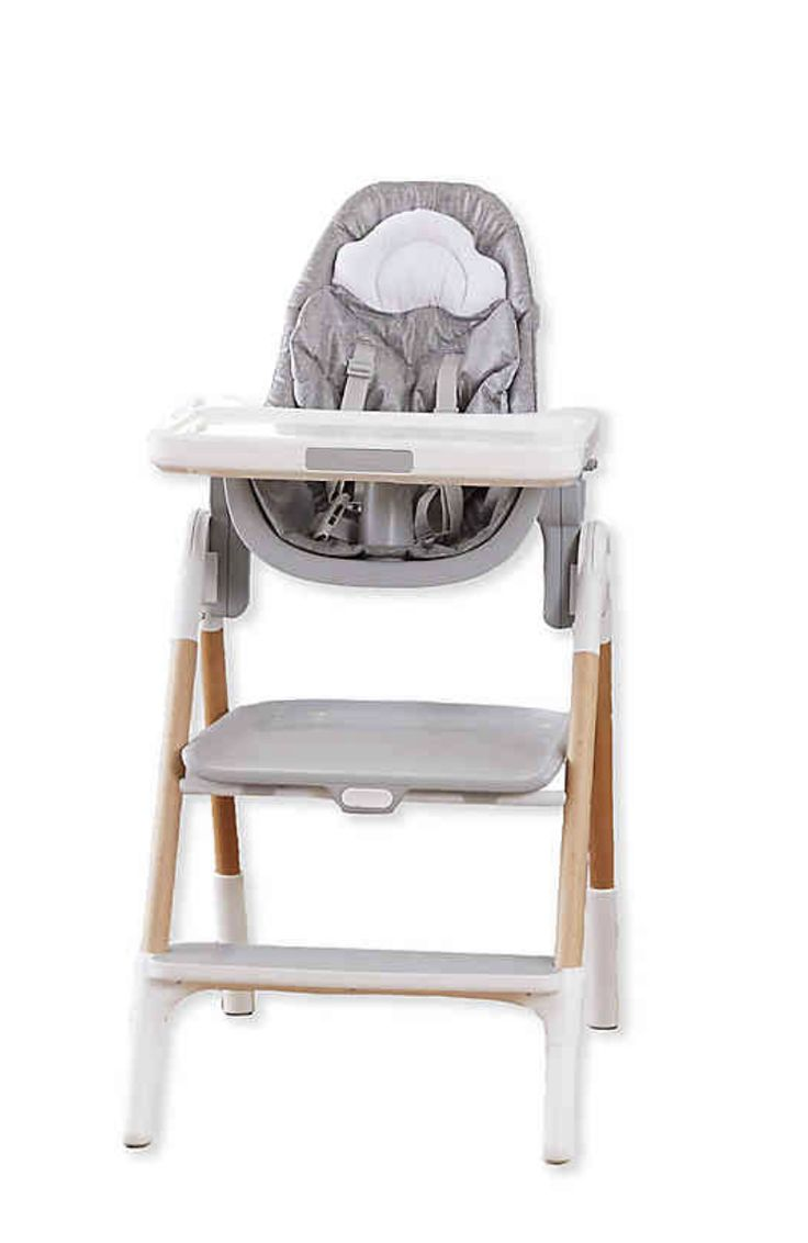 Skiphop sittostep convertible high chair in greywhite