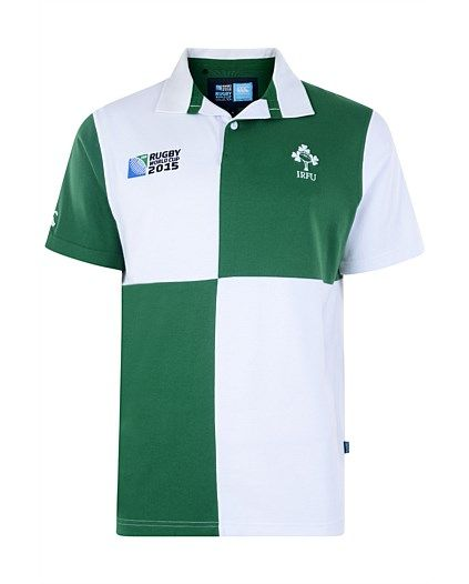 Rugby World Cup 2015 IRELAND country collection - IRFU Harlequin Short Sleeve Rugby Jersey