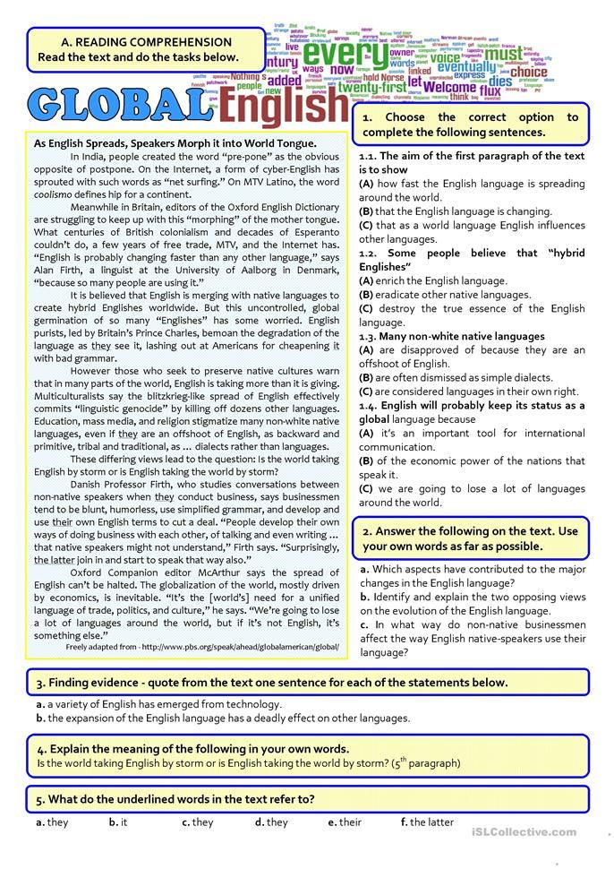 Pin On Reading Worksheet 12th grade english worksheets
