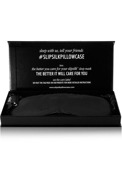 Slip - Silk Eye Mask - Black - one size
