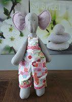 Tilda Elephant - Olifant met vrolijke tuinbroek -- HipHomemadeShop