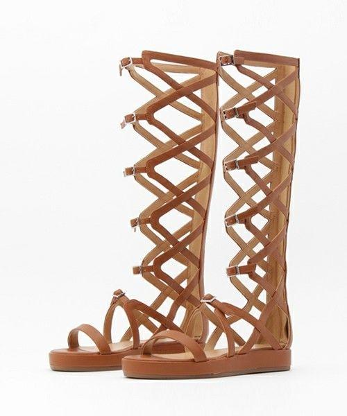 シューズ(シューズ)のサイハイグラディエーターサンダル / Thigh-High Gladiator Sandal(サンダル)|ブラウン