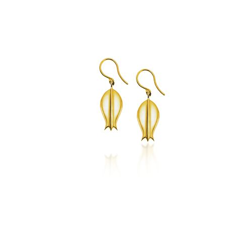 Princesses of the Mediterranean earrings in silver gold plated.