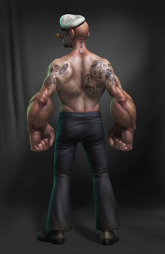 Realistic 3D Popeye by Lee Romao