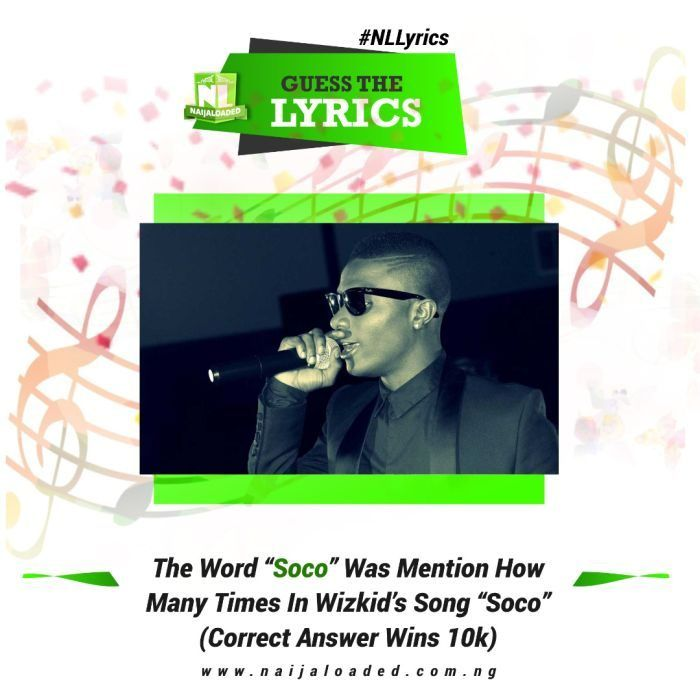 The Word Soco Was Mentioned How Many Times In Wizkids Song