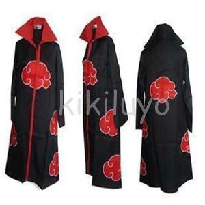 Naruto Akatsuki cloak cosplay costume Animation Style: Anime Product Type: Costumes Character/ Show: Naruto Size:XS, S, M, L, XL, XXL  XS 142--152cm S 153--160cm M 161-167cm L 168-173cm XL 174-179cm XXL 180-184cm  Trousers have no XS size.  Remarks: The color displayed may vary due to different monitor settings. Please know that all the pictures are taken from the actual product we have.