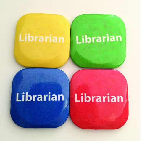 32mm Square Button Badge - Librarian – London Emblem