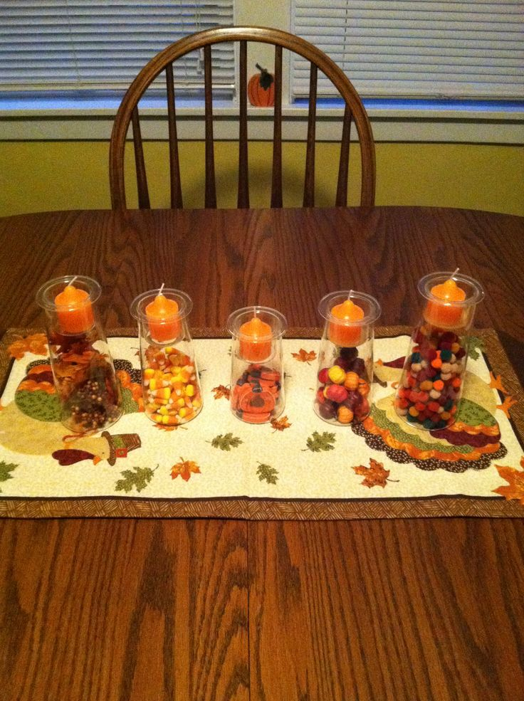 Symmetry trio from partylite filled with fun fall items for Trio miroir partylite