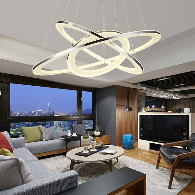 Tienda online moderno led colgante luces remoto c rculo - Catalogo de luminarias para interiores ...