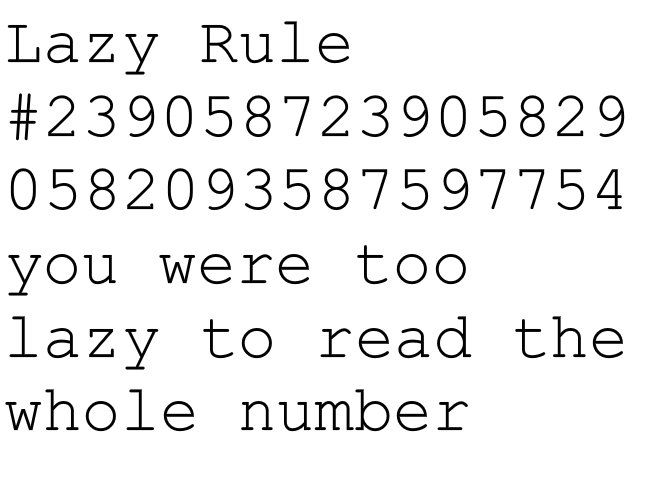 Lazy rule.. for some reason this totally made me think of you @violet ... not necessarily in a BAD way, I guess..