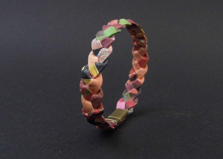 bracelet petite fille tressé multicolore : Bracelet par lamaisondemilpapiers
