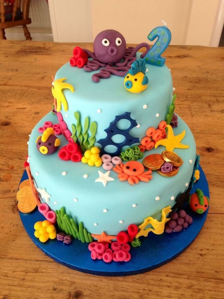 Under The Sea Birthday Cake Birthday Cake Kids Boys Cool Birthday Cakes Sea Birthday