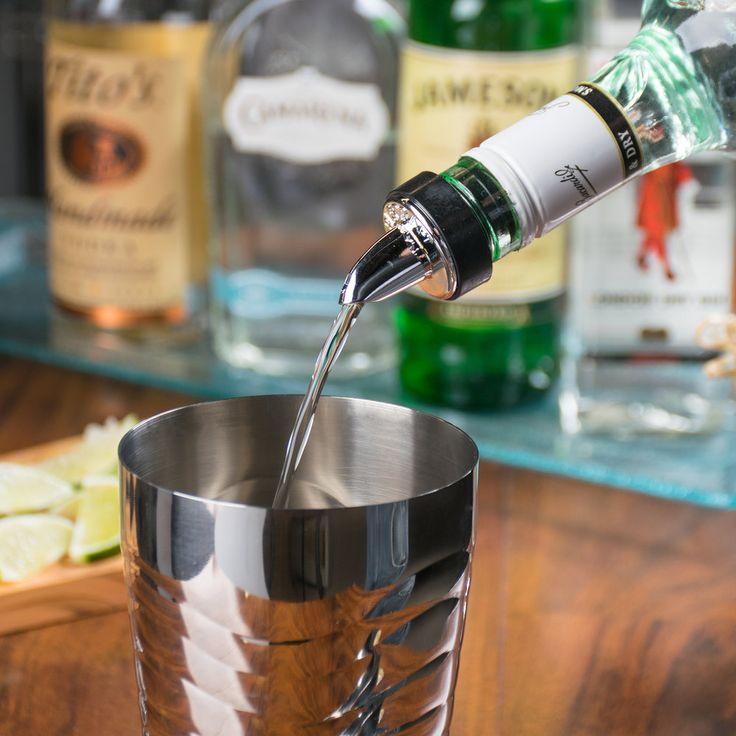 Tablecraft 671 Chrome Short Spout Liquor Pourer - 12/Pack