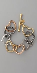 pulseira de corações