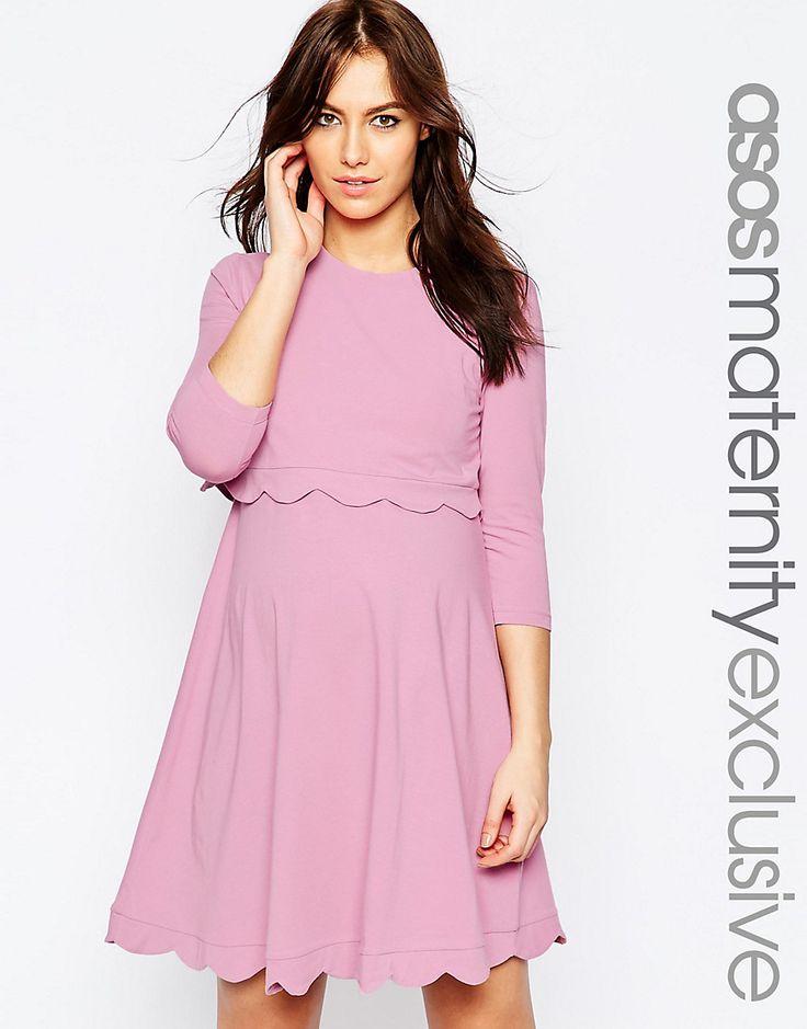 ASOS+Maternity+NURSING+Scallop+Dress