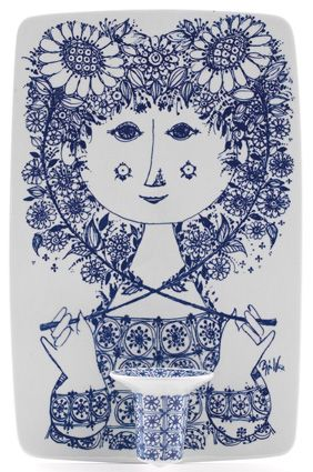 Bjorn Wiinblad ceramics, 1950's. His instantly recognisable & characteristic designs focus on fairy tales, myth & nature, with a unique style all of his own. Mass-produced pieces such as the seasonal plaques & plates are commonly found.