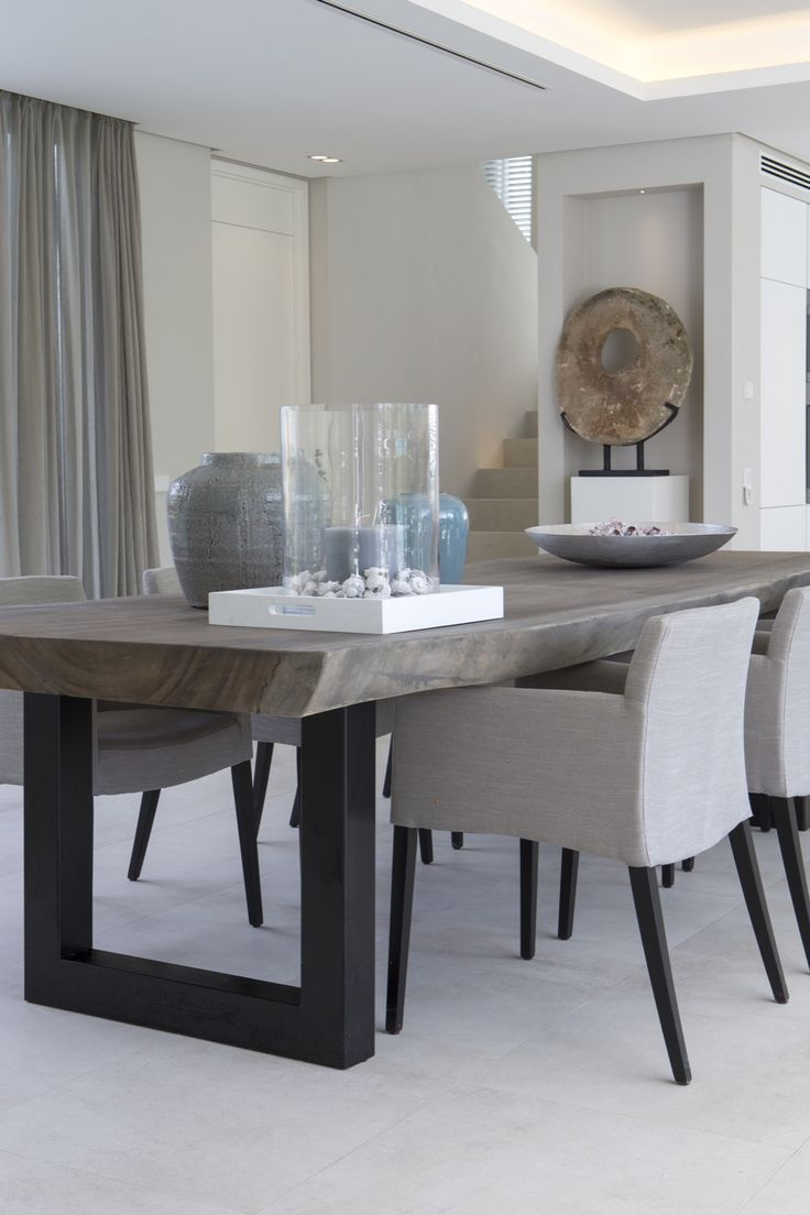 best  modern dining room tables ideas on pinterest  modern  - my dad can make this table