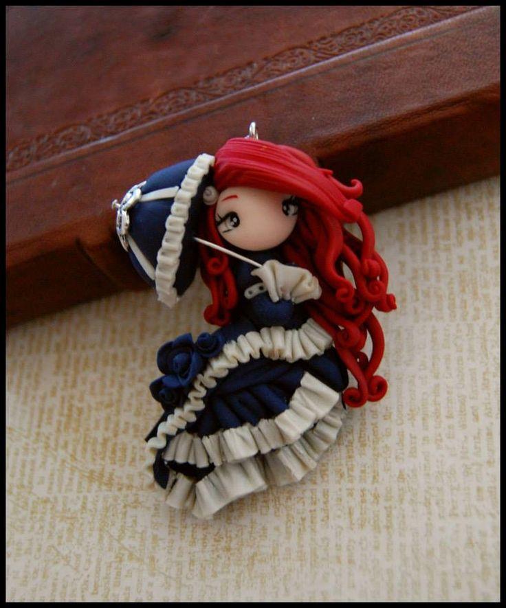 je ne sais pas trop ce quelle représente mais elle est superbe et j'adore sa robe et son ombrelle