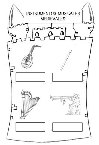 Ficha instrumentos mediavales. http://amimegustaelcole.blogspot.com.es/2013/11/banderines-medievales-y-mas.html