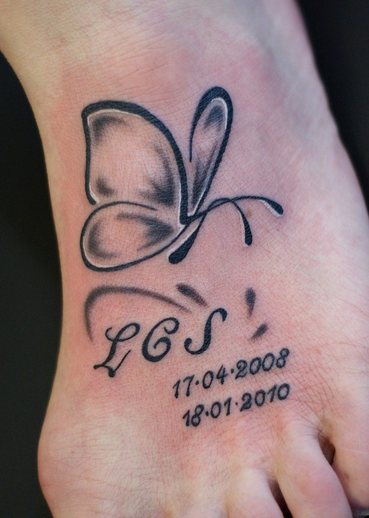 Simple butterfly tattoo