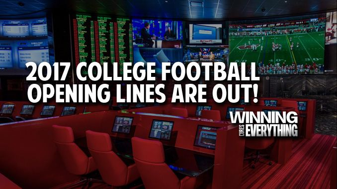College Football: Opening Weekend betting lines are out