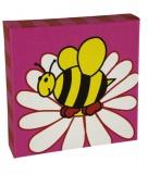 Kids - Kids art - Framed prints - Busy Bee - single/pink