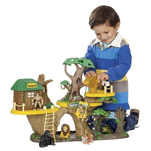animal planet jungle fortress tree house playset by animal planet climb the ladder to. Black Bedroom Furniture Sets. Home Design Ideas
