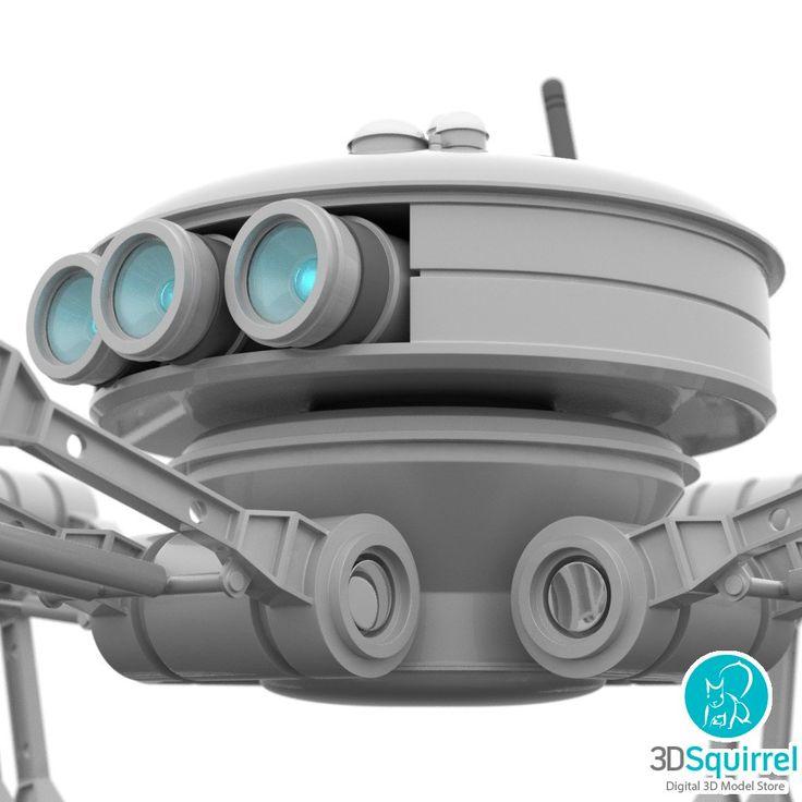 Mini Robot Crab 3D Model obj fbx lxo max dae dxf lwo | 3DSquirrel