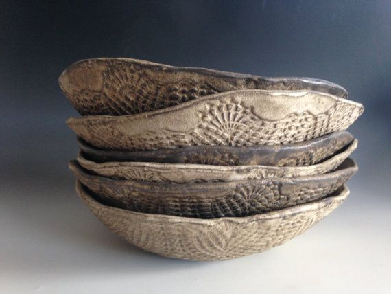 Dinner plates. Pasta Bowls Ceramic  plates handmade Visit:www.BlueDoorCeramics.com