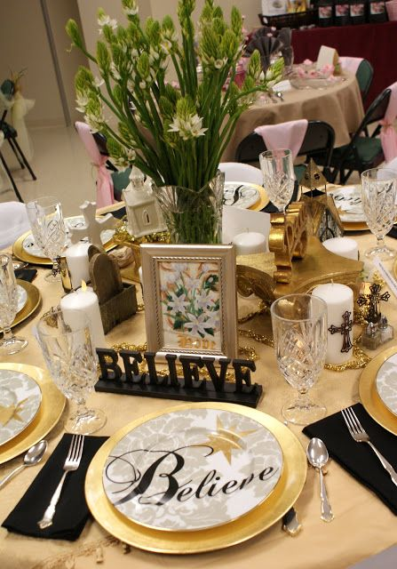A Little Loveliness tea party table settings for a church tea party